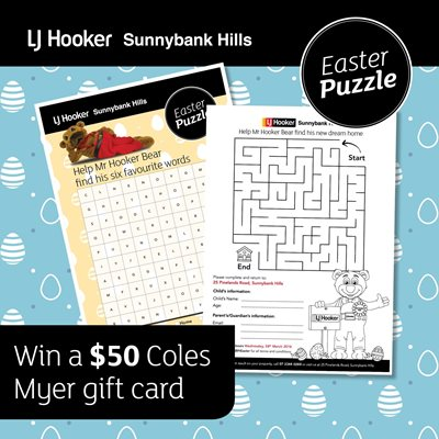Lj hooker sunnybank hills easter colouring in competition were also offering a 50 colesmyer gift card to anyone who posts on facebook or instagram with ljhsbheaster showing how they like to celebrate easter negle Choice Image